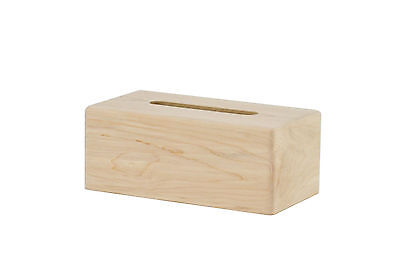 Wooden tissue box cover. Maple. NEW! unfinished