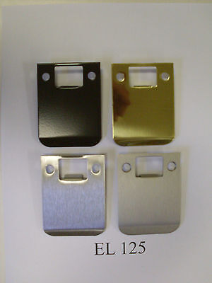 "Don-Jo EL125  3"" overall length RADIUS & SQUARE extended lip strike plates"