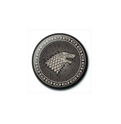 Game Of Thrones Stark Black Wolf Sigil Ned Badge Pin Rob Bouton Broche officiel