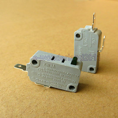 New 2 Pcs Microwave Oven KW3A Door Micro Switch Normally Open DR52