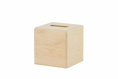 """Wooden tissue box """"cube"""" cover. Maple. NEW! unfinished"""