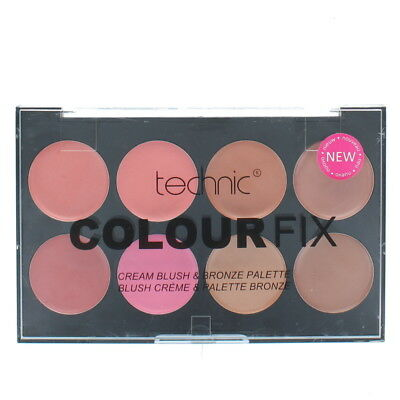 Technic Colour Fix Cream 8 Colour Blush & Bronzer Palette