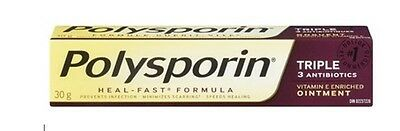 Polysporin TRIPLE Antibiotic Ointment with Heal-Fast Formula 30g