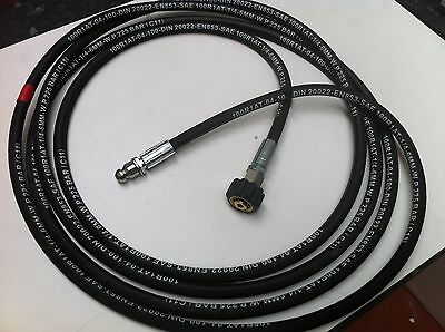 Karcher Drain Cleaning Hose Hd/hds Fitting 225Bar 150C+ Nozzle 3Rear 1Forward