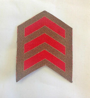WW2 British Army 3 years Overseas Service Chevron Printed Patch