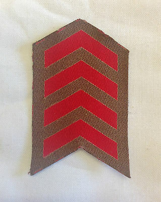WW2 British Army 4 years Overseas Service Chevron Printed Patch