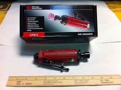 "New Chicago Pneumatic (Top Brand) Cp872 Straight Air Die Grinder 1/4""  Cheap!"