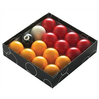 Red And Yellow Standard Pool Balls - Pub Grade (16 Piece)