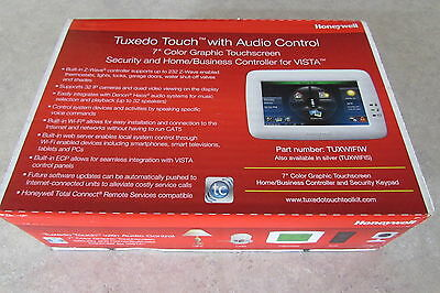 NIB Honeywell Tuxedo Touch TUXWIFI W Color Keypad 60 Day Returns ver 5.3.7.0
