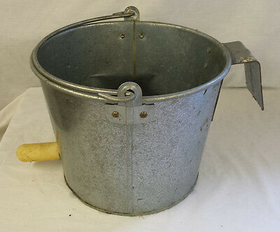 Vintage Baby Dairy Galvanized Milk Bucket with Nipple Hang Carry 8 Quarts