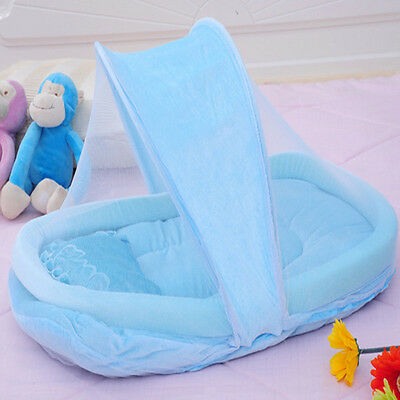 New Kids Crib Mosquito Net Portable Baby Cradle Bed Canopy Tent Cushion Pillow