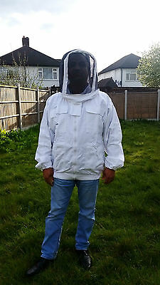 Beekeeping Jacket Bee Jacket Beekeeper Jacket Fencing veil & front zip-All Sizes • EUR 25,77