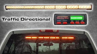 Warningworx Traffic Adviser LED Amber Directional Arrow Strobe Light Bar
