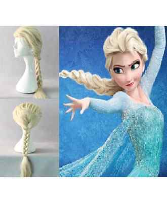 Elsa the Snow Queen Ponytail Wig Hair For  Adult For Halloween & Cosplay Party