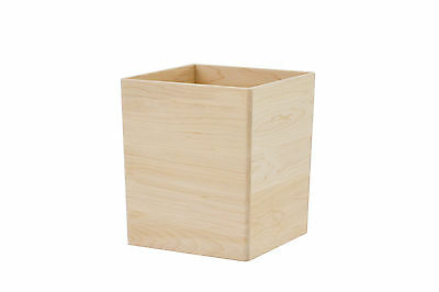 Wooden waste baskets. maple NEW! unfinished