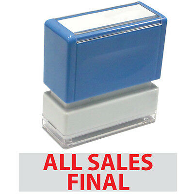 JYP PA1040 Rectangle Stock Pre-Inked Rubber Stamp With All Sales Final