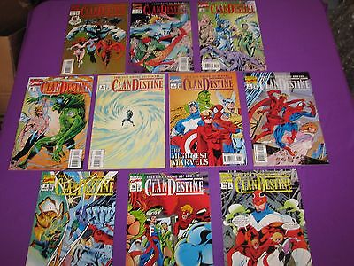 Clandestine #1 2 3 4 5 6 7 8 9 10 Complete Set Run Marvel Comics Comic VF