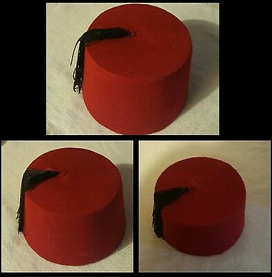 Egyptian Traditional Red Fez Tarboush Turkish Ottoman Hat Black Tassel. 3e9c728fa076