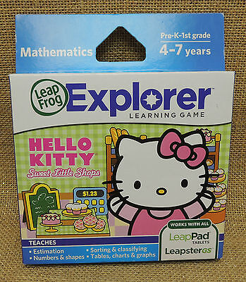 Leap Frog Explorer Learning Game Hello Kitty  NEW works all Leappad Mathmatics