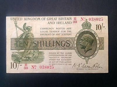 Great Britain 1919 ND George V Ten 10 Shillings P 356