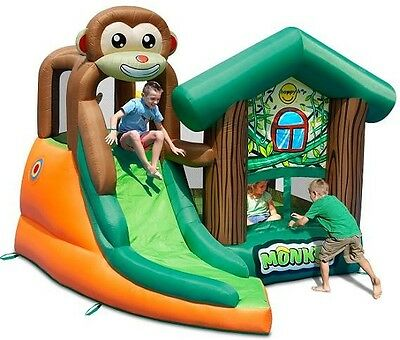 Inflatable Bouncy Castle with Slide - Monkey Jungle Inflatable Adventure