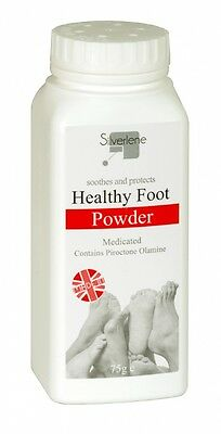 3 x ATHLETES FOOT POWDER HEALTHY MEDICATED TREATS AND PREVENTS ANTI FUNGAL 75g