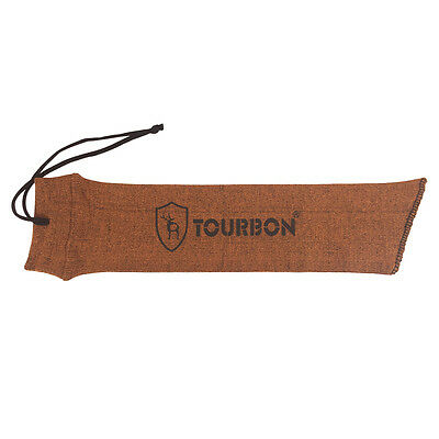 Tourbon Sock Pistol Gun Sack Handgun Sleeves Slip Reel Cover Bag Carrier Orange