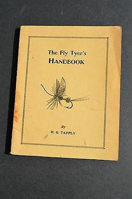 THE FLY TYER'S HANDBOOK Tapply 1940 original softcover first edition flyfishing