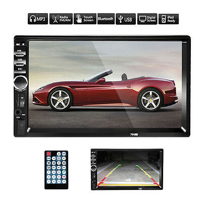 7'' 2 DIN In Dash LCD HD Bluetooth Touch Screen Car Stereo Radio MP3 Player AUX