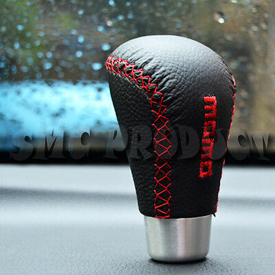 Universal Leather Black/Red  Manual Racing  Car Gear Lever Shift  Knob JDM MAZDA