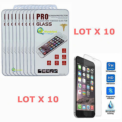 10x Wholesale Lot Tempered Glass Film Screen Protector For Apple iPhone 6s Plus