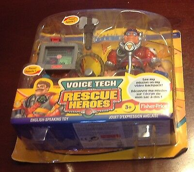 Fisher Price Rescue Heroes Voice Tech Matt Medic Action Figure Toy New