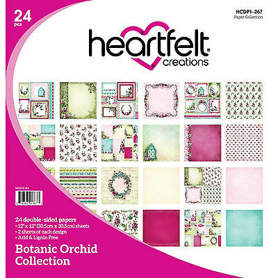 "Botanic Orchid 12""x12"" Heartfelt Creations Scrapbooking Paper Collection"
