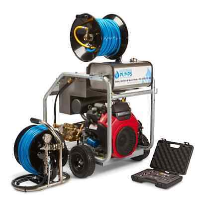 Jetter drain cleaner sewer cleaner 5000psi Honda GX 690 with honda 3 year wty