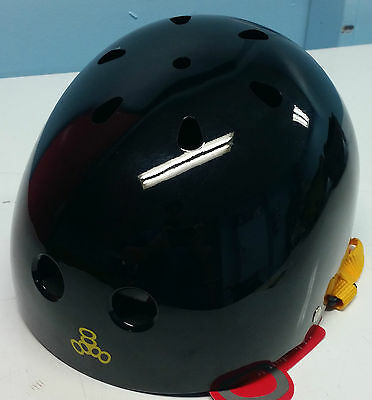 888 Brainsaver Helmet with Standard Liner - Black with Yellow Straps
