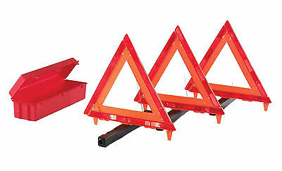3-Piece Folding Reflector Triangle Warning Car Truck Safety Security Box Kit New