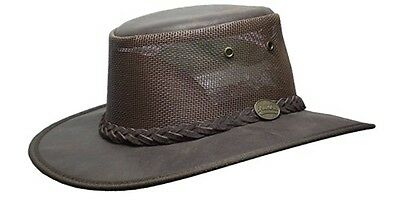 Barmah Foldaway Oiled Cooler Cowhide Leather Hat