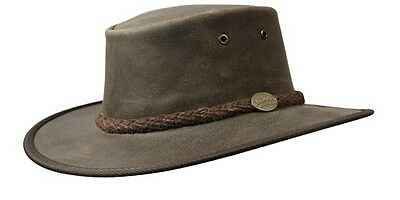 Barmah Foldaway Oiled Cowhide Leather Hat