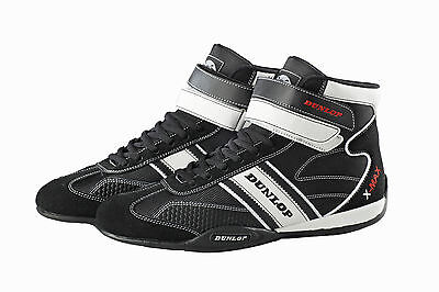 Dunlop Racewear Karting Shoes - Black & White - Karting Boots - Special Edition