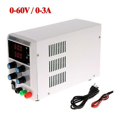 60V 3A DC Power Supply Adjustable Dual LED Digital Variable Precision Lab Grade