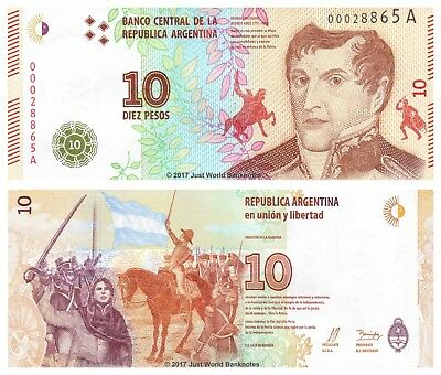 Argentina 10 Pesos 2016 P-New First Series 'A' Banknotes UNC