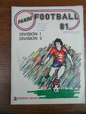 (DM) ALBUM PANINI STICKERS FOOTBALL 1981 FOOT 81 FRANCE vide empty