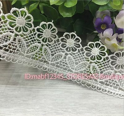 FP126A 1 Yard Lace Trim Ribbon For Wedding Bridal Dress Embroidered Sewing Craft