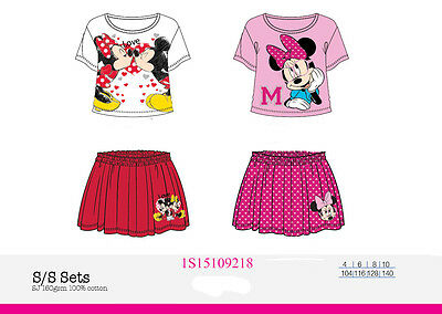 Offerta Coordinato Completo T.shirt+Gonna Bimba Ragazza Minnie Disney Topolina