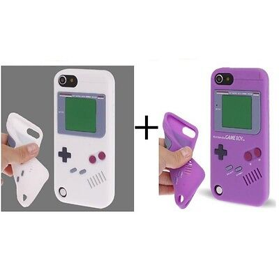 2 Hülle Case Cover Etui Tasche Case Cover GameBoy Silikon für apple iPod Touch 5