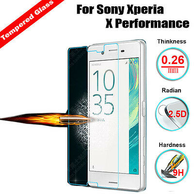 Tempered Glass Screen Protector Shield Guard Film For Sony Xperia X Performance