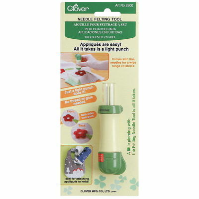 Hand Needle Felting Tool by Clover No Thread Or Glue Required 5 Replaceable Barb