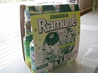 Sangaria Melon Ramune Marble Soft Drink 6 pack  Japan