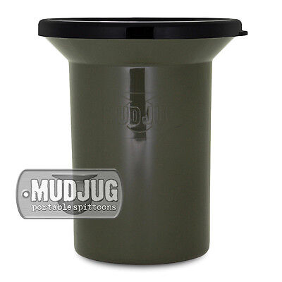 Mud Jug Olive Drab Roadie Portable Chewing Tobacco Spittoon Spill Resistant