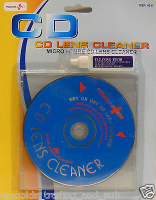 Powerplus Micro-Fibre Wet or Dry CD Lens Cleaner with Picture and Vocal Guide